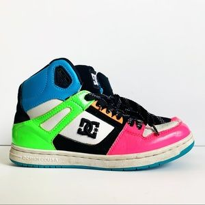 DC Shoes Neon Women Hi-Cut Skateboarding Shoes